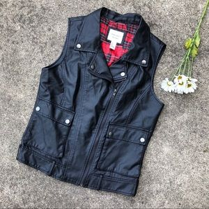 Forever 21 Premium Denim Faux Leather Vest